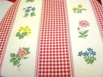 CUSCINO per SEDIA CUCINA COPRISEDIA in COTONE fiori e quadretti LACCETTI ROSSI | eBay