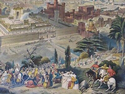 SUPER RARE Lithograph Print- Jerusalem 1903 by Palestine Art League Buffalo NY 8