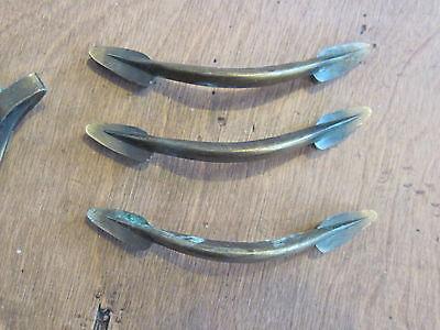 Lot Of 4 Vintage Antique Pull Handles ,dresser Drawer Funiture Hardware 5