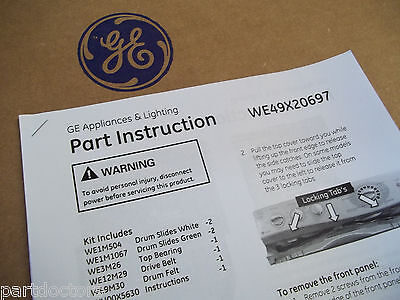 WE49X20697 NEW GENUINE OEM ORIGINAL GE Dryer Bearing & Belt Kit BLOWOUT SALE 6