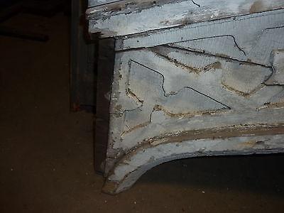 "c1820-30 Colonial era wooden DOOR pediment CRACKLED white paint 72"" x 40"" 4"