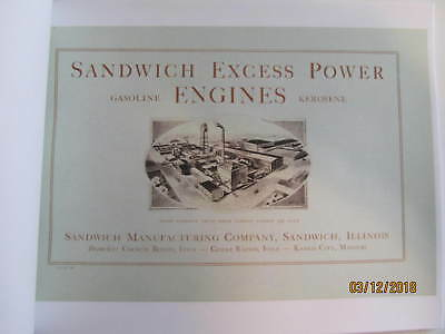 1924 Sandwich Manufacturing Co Sandwich Gas Engine  Catalog All sizes 2