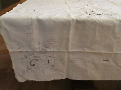 Mantel Antigua Colada de Mesa Antiguo Mobiliario Bordado Decoración Flores 7