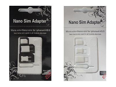 Neu Click-System Universal Sim Karten Adapter Set Nano Micro Handy Tablet Z12 2
