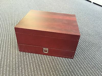 2 Tiers Wine Tool Rosewood Gift Box Tools Kit Case Premium Deluxe quality 2