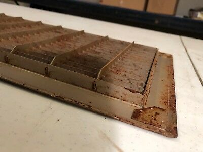 N6 Antique Sheet Metal Cold Air Return/heating Grate 7