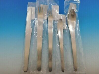 Arne Jacobsen by Georg Jensen Stainless Steel Flatware 5 Piece Place Setting New 2