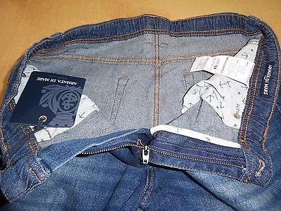 ★ ARMATA DI Mare Pantalone Jeans Uomo Denim Elasticizzato Sabbiato ★