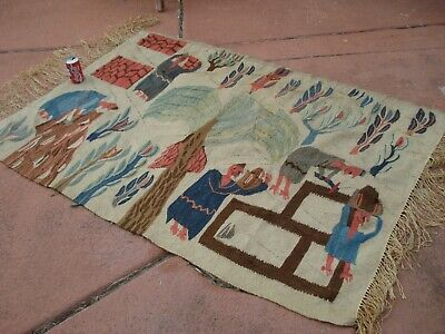 Hand Knotted Vintage Egyptian Kilim Weaving Rug from Ramses Wissa Wassef shops 10