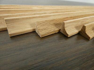 10 Hohlkehlleisten Eiche 15x13mm Länge 1150mm Profilleisten Holzleisten Leiste