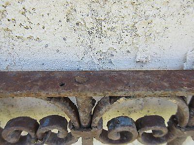 Antique Victorian Iron Gate Window Garden Fence Architectural Salvage Door #387 5
