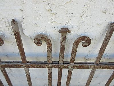 Antique Victorian Iron Gate Window Garden Fence Architectural Salvage Door #173 5