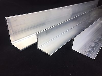 Aluminium Angle L Profile Mill Finish 6060 Grade Various Lengths Thickness 2 3 4 3