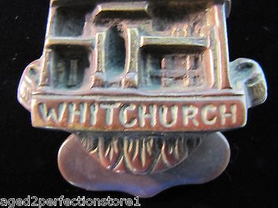 Antique Bronze WHITCHURCH Door Knocker small figural interior architectural hdwr 5