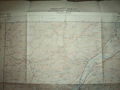"Ordnance Survey Map 2.5"" SO19 Newtown 1951 Inc. Abernule Dettws Cedewain Pennant 2"