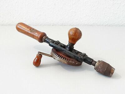 Vintage Antike Handbohrmaschine Holz Bohrer Bohrmaschine Handbohrer 3