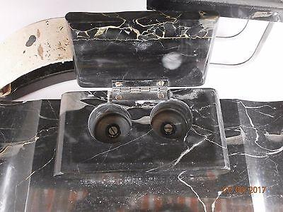 Bel ensemble bureau marbre veiné (Zimmerman Hanau ) prix de départ modeste @voir