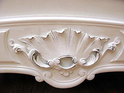 Stunning Antique French Double Rococo Crested Bed - C1920 10
