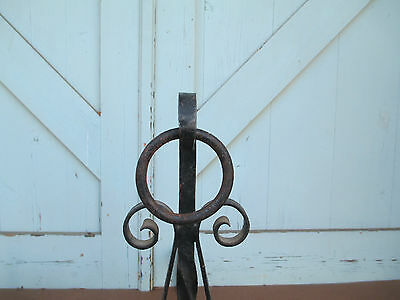 MISSION hand Wrought iron FIRE PLACE andirons  / 19.6 Lbs. simple ARTS & CRAFTS 6