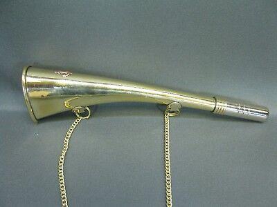 Messing Stethoskop Hörrohr Hearing Pipe Hörmaschine Ear Trumpet 23 cm mit Kette