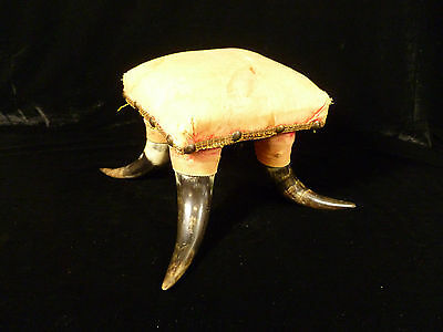 Rare Antique American Western Cowboy Steer Cow Horn Footstool - Circa 1880 3 • £385.11