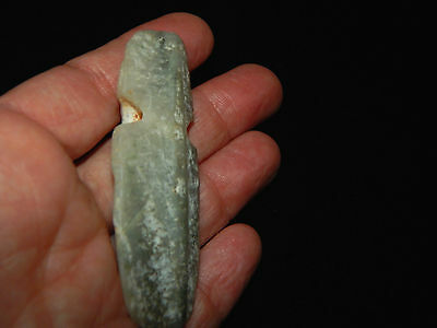 Pre-Columbian Jade Axe God Pendant, Translucent Jade, Authentic 8