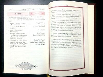 HOLY QURAN  KORAN. FRENCH TRANSLATION du Coran en français. KING FAHAD MADINAH 4