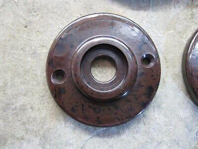 1 x Reproduction Real Walnut Brown Bakelite 1930's - 60's Door Knob Rose  RB65 2
