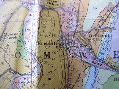 Color Soil Survey Map Huntingdon County Pennsylvania Mount Union Rockhill 1944 4
