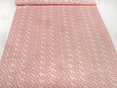 Stoff Baumwolle Jersey Patchwork Blumen grafische Muster weiß pink Kleiderstoff