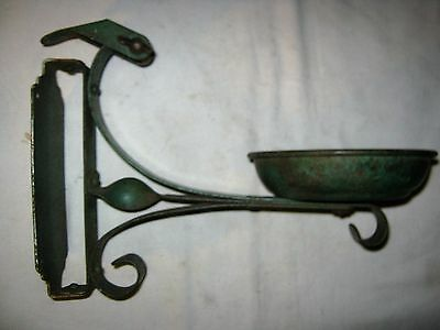Antique Architectural Swivel Home Oil Lamp Plant Wall Art Shelf Holder Bracket