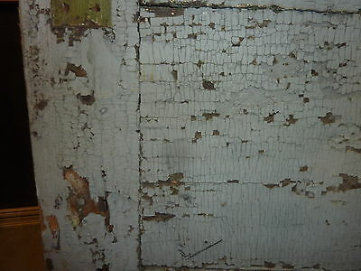 """LATE 18th century ANTIQUE colonial FOUR panel DOOR paint PATINA 78 x 35"""" x 1.25 10"""