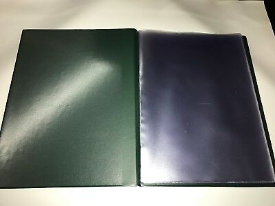 Pvc GREEN LEATHER LOOK GUEST INFORMATION FOLDER - TOP QUALITY 2