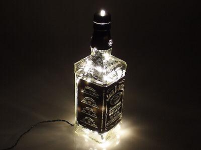 Jack Daniels - Flaschen Lampe mit 80 LEDs 220V Warm- UND Kalt-Weiß UMSCHALTBAR 3