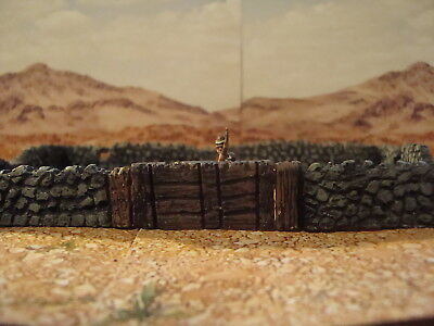 for wargame scenery and building terrains Painted Cobble Walls oo Gauge