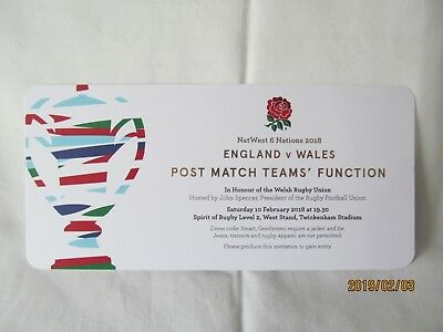 England v Wales. Rugby Union. Twickenham. Programme + Event Tickets. 5