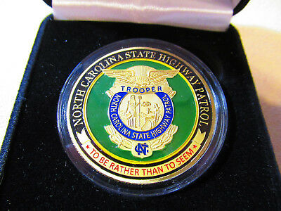 North Carolina State Highway Patrol Challenge Coin w// Presentation Box