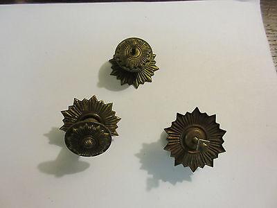 3 Vintage Regency Brass Hardware Drawer pulls Handles Dresser pierce carved 4
