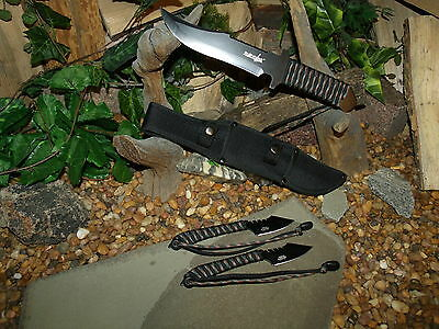 Knife/Blade/Bowie/Harpoon/Spear/Full tang/Zombie/Paracord 550 MINI survival kit 3