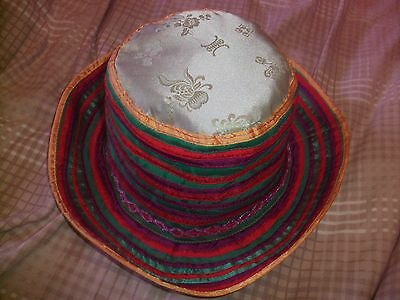Womens Ladies Girls Unique Festival Party Sun Hat -  Colourful Hippie Rainbow 2