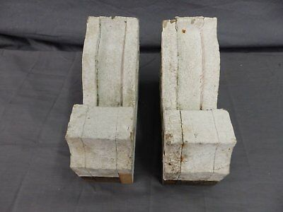 Antique Pair Wood Small Corbel Victorian Architectural Shabby Vtg Chic 506-17P 7