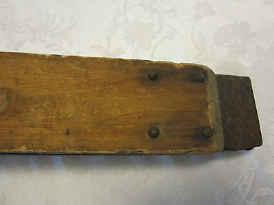 Primitive Pumpkin Seeder Wood Metal THE TRIUMPH Planter MARKED WI 1900's GARDEN