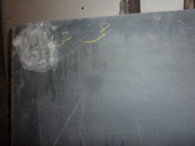 "antique ORIGINAL circa 1920's schoolhouse SLATE chalkboard 62.5"" x 42"" UTICA, NY 10"