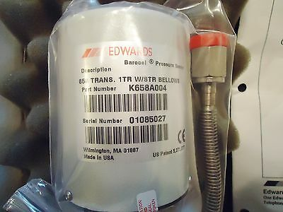 New Edwards Barocel Pressure Sensor Part# K658A004 658 Trans. 1Tr W/Str Sellows 2