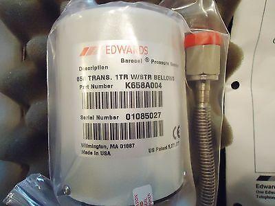 New Edwards Barocel Pressure Sensor Part# K658A004 658 Trans. 1Tr W/str Sellows 2
