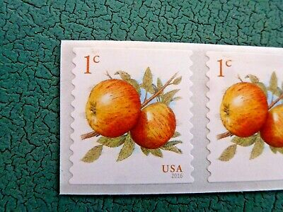 1 Cent Apple Stamps 2016 USPS Mint Postage Stamps Set Of 20 For Actual Postage 2