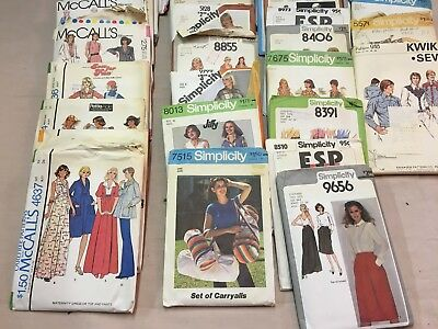 34 Vintage Sewing Patterns 1970's & 80's McCall Simplicity Most Misses' Size 5