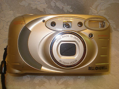 BELL HOWELL PZ2200 35mm FILM  POINT AND SHOOT CAMERA 35-70mm LENS/ LEATHER CASE 3