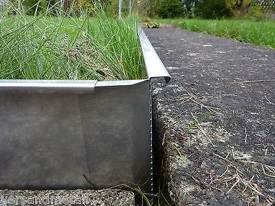 Stabile Rasenkanten Kiesleiste Beeteinfassung Höhe130mm//160mm Edelstahl rostfrei