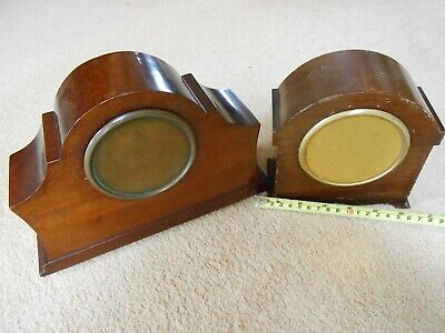 Vintage Mahogany Mantle Clock 8 Day Movement with Platform Escapement & another 4